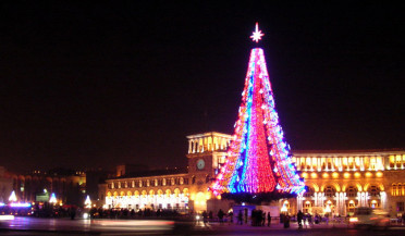 First days of New Year in Yerevan