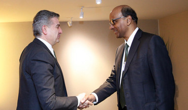 Karapetyan meets Deputy Prime Minister of Singapore in Davos