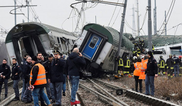 Passenger train derails in Italy, killing four