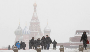 Record snowfall in Moscow