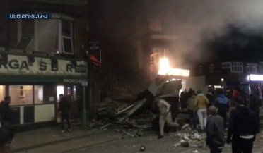 Two-storied building explodes in Leicester