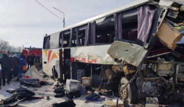 Yerevan-Tver bus crashes