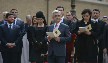 RA President attends Narek statue unveiling ceremony in Vatican