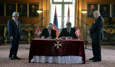 New agreement between Armenia and Sovereign Order of Malta