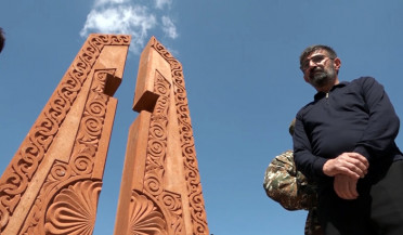 Monument to April War heroes erected in Gyumri