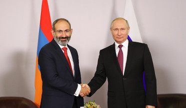Nikol Pashinyan and Vladimir Putin meet in Sochi