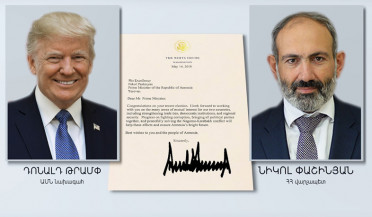 Donald Trump congratulates Nikol Pashinyan
