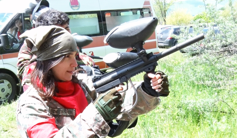 Paintball tournament in Sevan