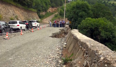 Vanadzor-Alaverdi interstate highway under repair