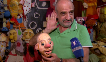 The famous puppet of the theater