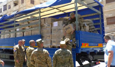 Armenia sends aid to Syria