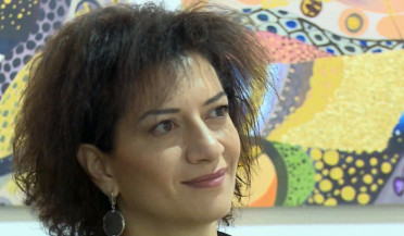 Painter Armine Aghayants holds charity fair