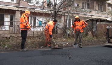 Vanadzor suffers from low-quality asphalting works
