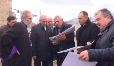 Construction of Stepanakert Mother Cathedral nears completion