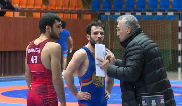 Armenian wrestlers participate in pre-Olympics competition