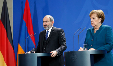 Armenian PM returns after visit to Germany