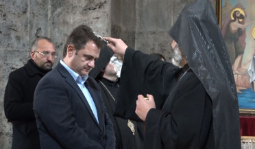 Tavush governor spends first working day in Haghartsin
