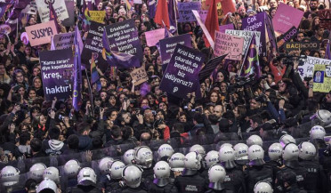 Women's protests met with violence in Azerbaijan and Turkey