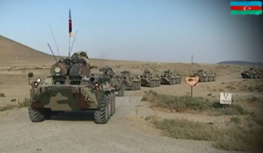 Azerbaijani army holds military exercises
