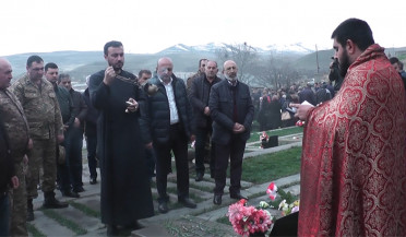 Sisian pays respect to nine soldiers fallen in April War