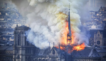 Fire erupts at Notre Dame Cathedral