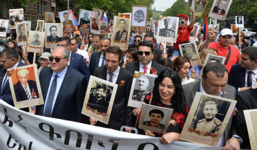 Immortal Regiment marches in Armenia