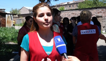 Gyumri sewing workshop employees protest