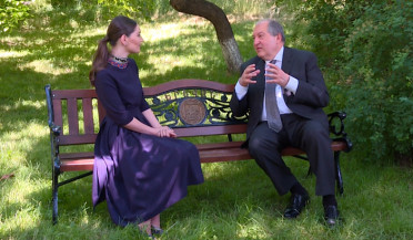 President Armen Sarkissian gives exclusive interview to News