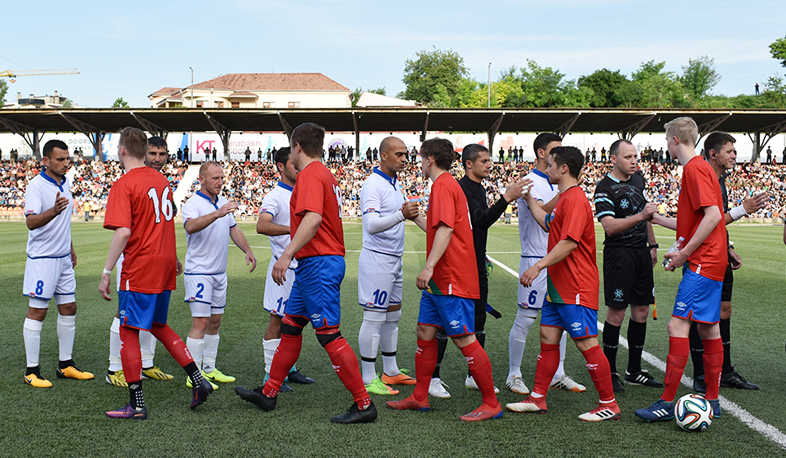 Artsakh National Team starts with a win