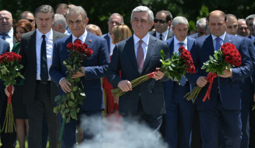 Republican leaders pay respect to Andranik Margaryan