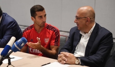 Henrikh Mkhitaryan flies to US with Arsenal