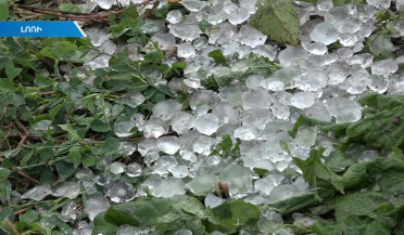 Hail damages villages in Lori