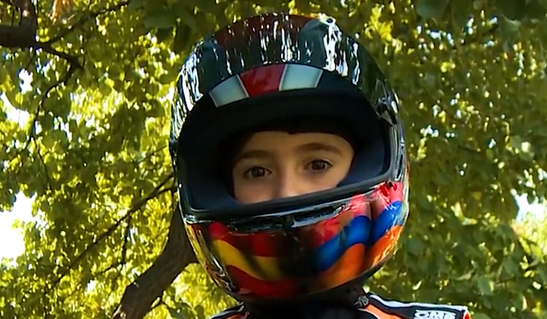 10-year-old Armenian kart racer on his way to victories