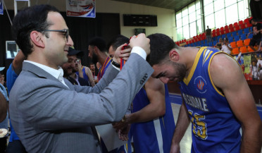 Tigran Avinyan follows Pan-Armenian Games basketball tournament final