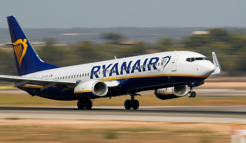 Ryanair airline arrives in Armenia