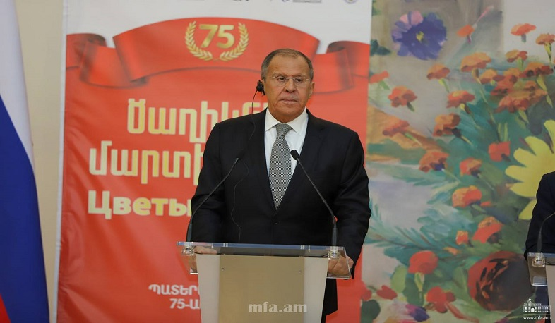 """Moscow appreciates Armenia's attention to memory of Great Patriotic War,"" says Lavrov"