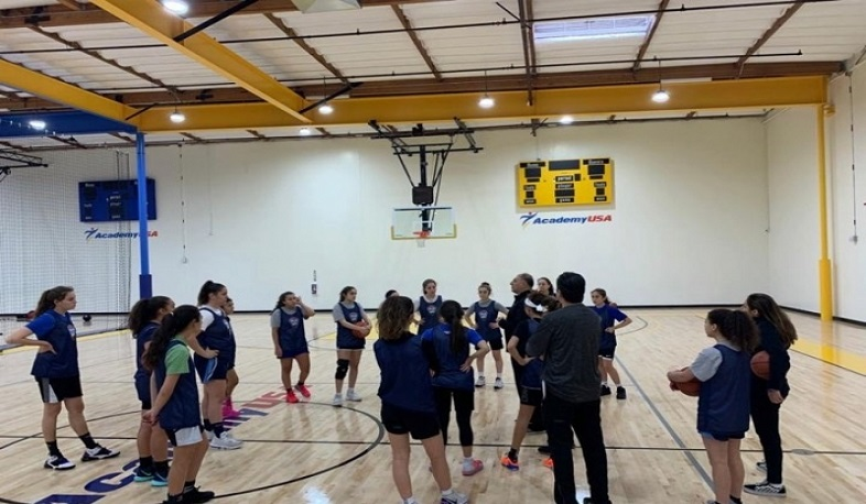 Coach of Armenian youth basketball team tries players in Los Angeles