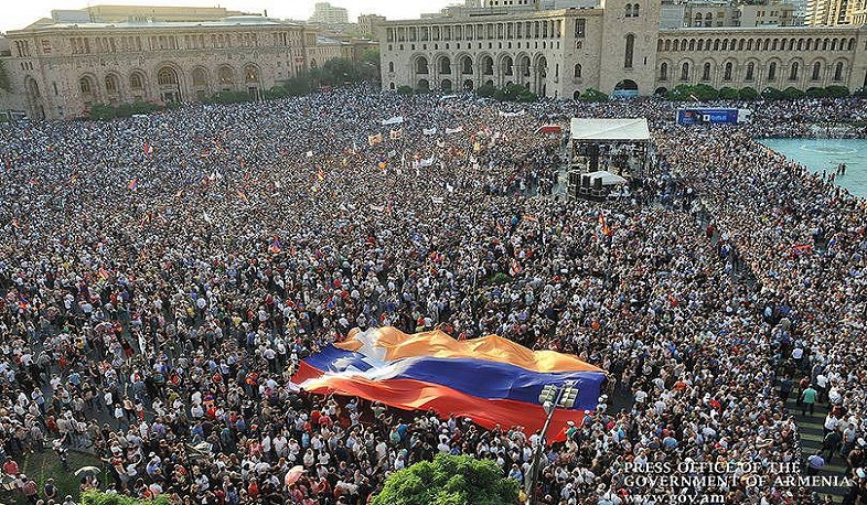 Freedom House. Armenia has the highest democratization rate in the history of the report